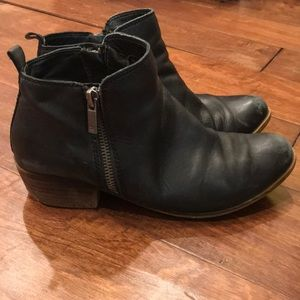Lucky Brand • Basel Booties (black leather)